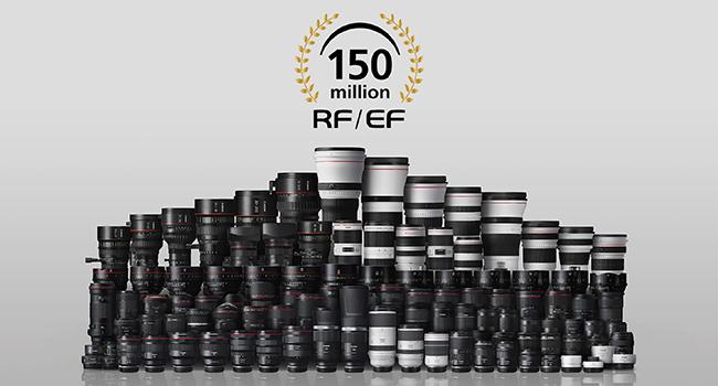 150 Millones de lentes RF y EF producidos